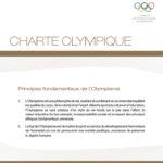 Charte Olympique - principes fondamentaux olympisme