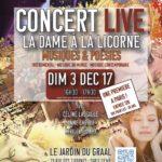 Affiche concert Dame à la Licorne déc 17