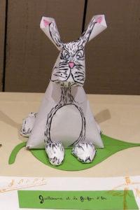 sculptures papier lapin