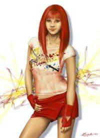 Amber rouge portrait