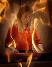 Anne Feu d'Or au piano